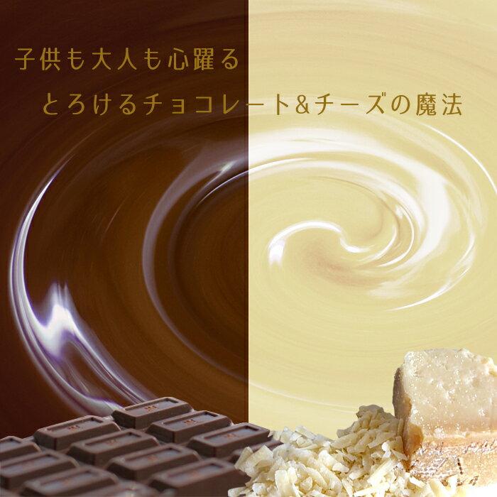 チョコフォンデュセットフォンデュパンフォーク付き燃料付きフォンデュ鍋チョコチーズバーニャカウダー