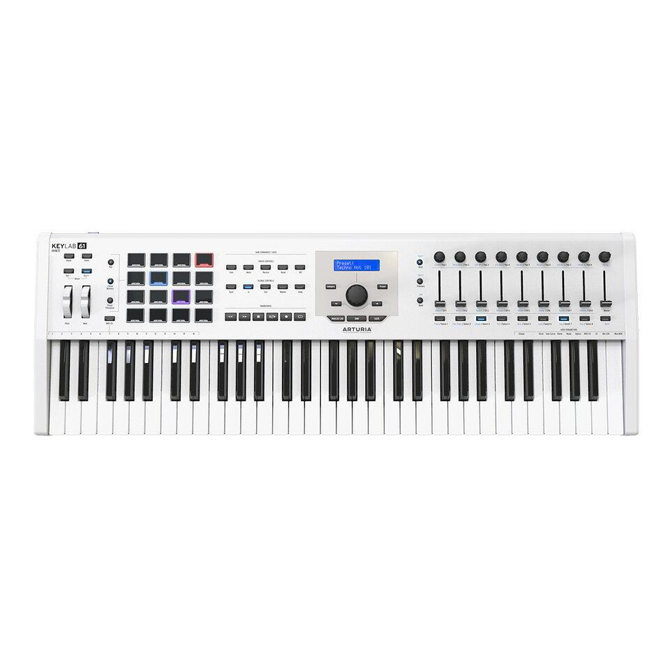 DAW・DTM・レコーダー, MIDIキーボード ARTURIAKEYLAB 61 MK 2 White