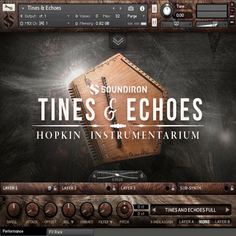 DAW・DTM・レコーダー, 音源 SOUNDIRONHOPKIN INSTRUMENTARIUM : TINES ECHOES
