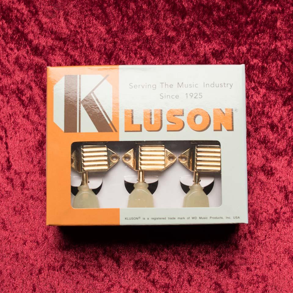 ギター用アクセサリー・パーツ, ペグ KlusonKluson Deluxe VX-501 WB PB Gold