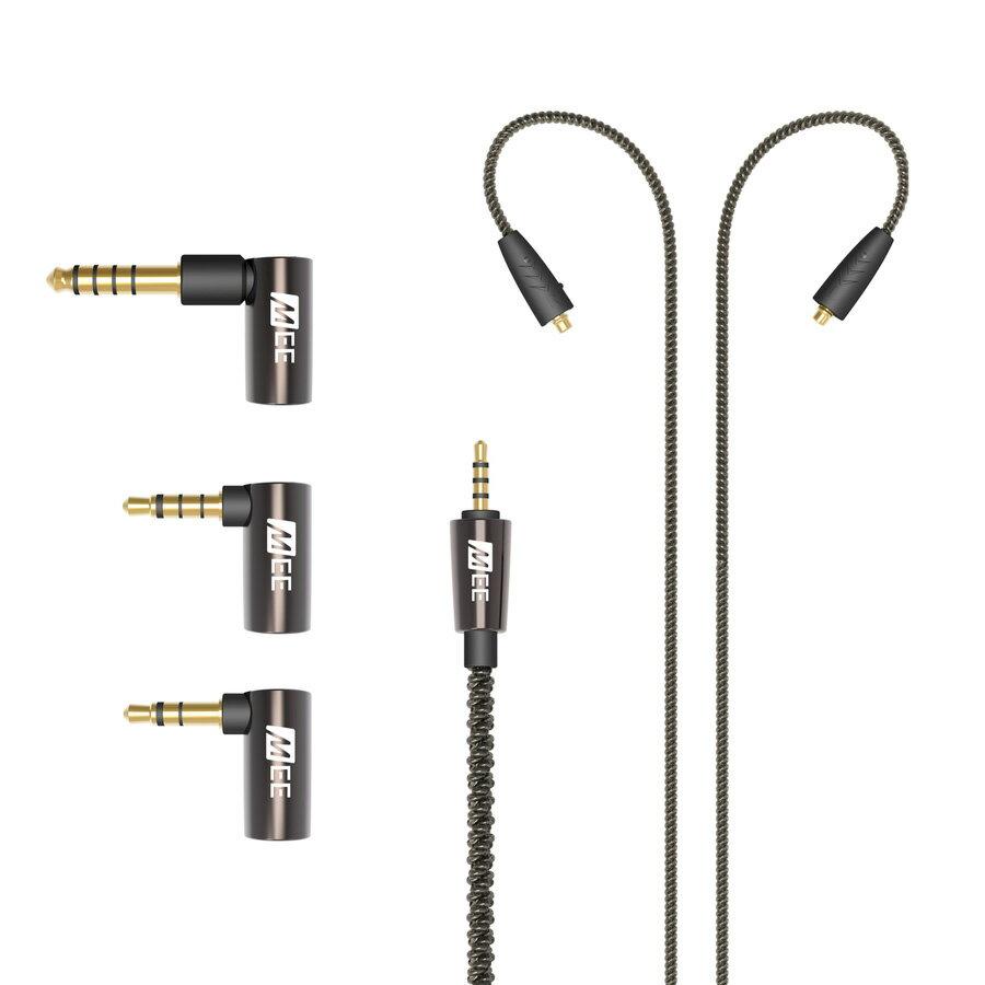 オーディオ, ヘッドホン・イヤホン MEE AudioUniversal MMCX Balanced Audio Cable with adapter set