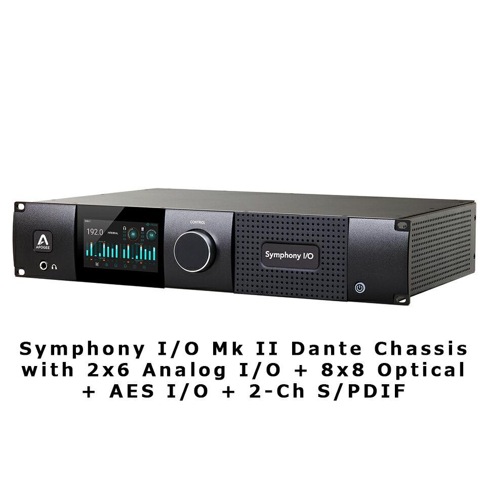 DAW・DTM・レコーダー, オーディオインターフェイス APOGEESymphony IO Mk II Dante Chassis with 2x6 Analog IO 8x8 Optical AES IO 2-Ch SPDIF