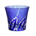 【楽天スーパーSALE★10%OFF!】切子タンブラーグラス 菊つなぎ 濃青色 食洗機対応