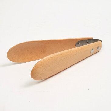 天然木製 ブナの木 トング 小