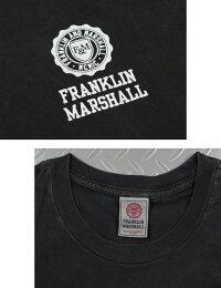 フランクリンと言えば、コレ♪FRANKLIN&MARSHALL,フランクリンアンドマーシャル,TSHIRTJERSEYROUNDNECKLONG,エンブレムロゴプリント入り長袖Tシャツ,ワンポイントピグメントダイ加工TEE,#TSMF350KNW17
