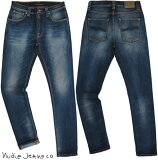 Nudie Jeans co/ヌーディージーンズ LEAN DEAN/リーンディーン PEEL BLUE(ピールブルー) ストレッチ・スキニーデニムパンツ