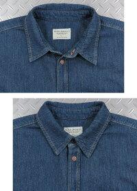 NudieJeans,ヌーディージーンズ,ALBERT,MIDWORN,ミッドウォーン,One-pocket,regularfit,shirtmadeinsoftdenimwithalovelystructure.,デニムシャツ,カッパーボタンデニムシャツ