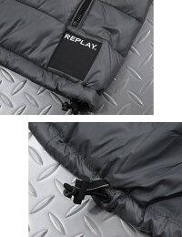 コートやジャケットなどのアウターの下に着るのにも最適★REPLAY,リプレイ,M8862,HIGH-COLLARPADDEDVEST,ダックフリーインナーダウン,中綿ベスト,キルティングジレ