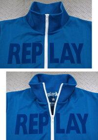 """スタイリッシュな着こなしが楽しめる★リプレイの""""トラジャケ"""",REPLAY,リプレイ,M3679A,TECHNICALSWEATSHIRTZIPPER,ロゴライン入り、トラックジャケット,ジャージ,トラジャケ,BLUE(ブルー)"""