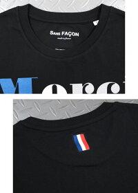 気取らず、かっこいいがコンセプト★フランスカルチャーにインスピレーションを受けたSANSFACON(ソンファソン),SANSFACON,ソンファソン,T-SHIRTUNISEX,MerciNon,半袖プリントTシャツ,カットソー,BLACK(ブラック)