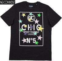 NOCOMMENTPARIS,ノーコメントパリ,ULTN080-1STARN°5,半袖プリントTシャツ/カットソー,BLACK(ブラック)