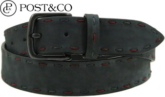 POST&CO,ポストアンドコー,LeatherBelt,レザーベルト,Art:8021,NERO(ブラック)