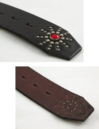 HTC/エイチティーシー#36351ENDONLYBELT/スタッズ入りギャリソンベルトBLACK(ブラック)