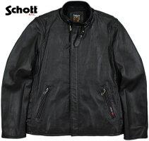 クールでスマートな、シングルライダースの決定版★Schott★クラシックレーサージャケット!!!Schott,ショット,SOLIDCLASSICRACERJACKET,ソリッド・クラシックレーサージャケット/ライダースジャケット,BLACK(ブラック)/Lot;3161055