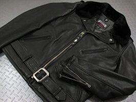 ゴージャスなリアルムートン襟は、容易に脱着可能!Schott,ショット,#7565,PER90ANNIVERSARYPERFECTOJACKET,Schott社創立90周年記念限定パーフェクトライダースジャケット,BLACK(ブラック)