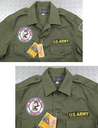 バズリクソンズとスヌーピー、夢のコラボレーション♪BUZZRICKSON'S×PEANUTS,バズリクソンズ×ピーナッツ,VIET-NAMUTILITYSHIRT,スヌーピーワッペン付き、半袖ベトナム・ユーティリティーシャツ,149OLIVE(オリーブ)/BR37327