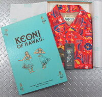 """アロハをこよなく愛する著名人のデザインによる、KEONIシリーズの最新作!ティキ・ビレッジ」byムーキーサトウ★KEONIOFHAWAII,ケオニオブハワイ,""""TikiViLLAGE""""byMookieSato,「ティキ・ビレッジ」byムーキーサトウ,SS37333,RED(レッド)"""