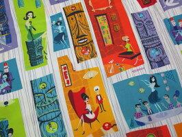 """アメリカのモダンアートシーンを代表する画家、シャグ氏に依頼★KEONIOFHAWAII,ケオニオブハワイ,""""TIKIPARADISE""""bySHAG,ティキ・パラダイスbyシャグ,WHITE(ホワイト),SS37654"""