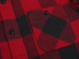 """女性ウケの良い""""チェックシャツ""""なら♪SUGARCANE,シュガーケーン,TWILLCHECKL/SWORKSHIRT,ツイルチェックワークシャツ,バッファローチェックシャツ,綿ネルシャツ,RED(レッド×ブラック),SC27963"""