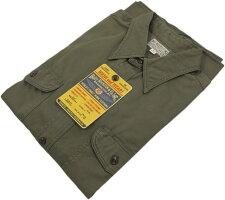 光沢のある上質なコットンヘリンボーン素材を使った★バズリクソンズの長袖ワークシャツ。BUZZRICKSON'S,バズリクソンズ,HERRINGBONEWORKSHIRT,長袖ヘリンボーンワークシャツ,コットンヘリンボーンシャツ,OLIVE(オリーブ),BR26081