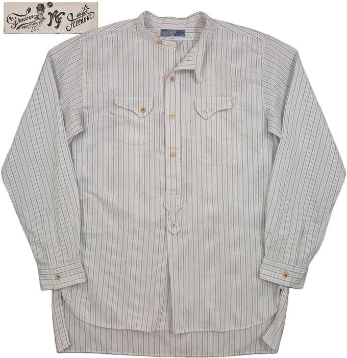 トップス, カジュアルシャツ MFSCPIOUPIOUCOLLECTION COTTON DOBBY STRIPE CHEMISE SHIRT 401 AWHITE()SC28253