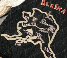 "TAILORTOYO,テーラートーヨー,Late1950sStyleVELVETEENSOUVENIRJACKETS,""ALASKANEAGLE""דALASKAMAP""別珍×サテンキルト、リバーシブル・スカジャン,アラスカスカジャン,ベッチンスカジャン,TT14467"