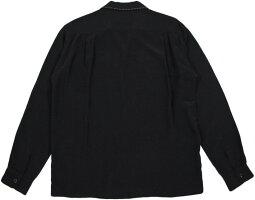 "50'sテイストたっぷり&クラシカルでマニアック★スタイルアイズの長袖レーヨンボウリングシャツ,STYLEEYES,スタイルアイズ,""SADDLESTITCH""L/SRAYONBOWLINGSHIRT,サドルステッチ入り、長袖レーヨンボウリングシャツ,BLACK(ブラック),SE28070"