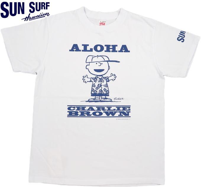 トップス, Tシャツ・カットソー SUN SURFPEANUTS SS T-SHIRTALOHA T WHITE()SS78488