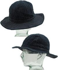 帽子にさえ、クラフトマンシップを込めた★バズリクソンズの本格派デニムハット★BUZZRICKSON'S,バズリクソンズ,HAT,WORKING,DENIM,デニム・ワーキングハット,A/NAVY(ワンウォッシュネイビー),BR01476