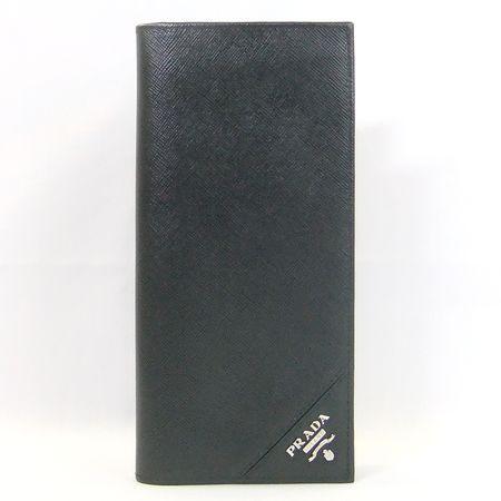 db87d1d536b5 商品名プラダ サフィアーノ メタル 2M0836 2つ折長財布 素材レザーカラーNERO(ブラック)仕様札入れ×1、ファスナー式小銭入れ×1、カードポケット×9、内  ...