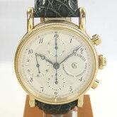【質屋出店】【当店保証1年付】クロノスイスクロノグラフCH7521K18YG(イエローゴールド)メンズ時計【中古】