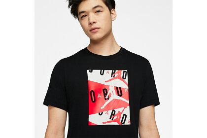 ナイキジョーダンNIKEJORDANバスケtシャツエアークルーTシャツ(ブラック/インフラレッド)【CD5629-010】2020/1/7