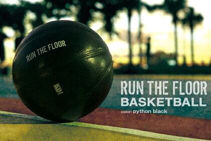 RUNTHEFLOORランザフロアーバスケットボール7号球人工皮革B.LEAGUE【ネーム加工不可】(pythonblack)【B7R3501】