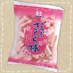ほんのり甘くてサクサクおいしい【特価】こつぶ さくら棒(麩がし) 110g 敷島産業【駄菓子】