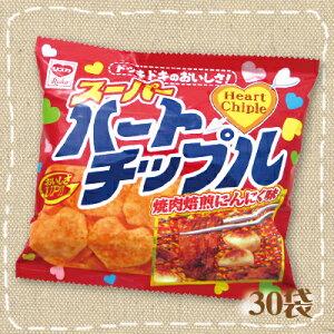 ガーリックが効いたサクサクのスナック【駄菓子】リスカ ハートチップル 小袋 30袋入り1BOX...