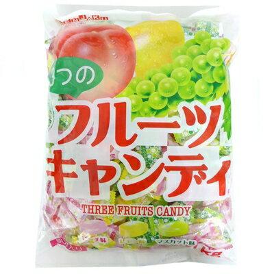 【業務用】1キロ入 3つのフルーツキャンディ 徳用袋 1kg入×80袋【扇雀飴本舗】1袋約260粒前後入り【代引き不可】
