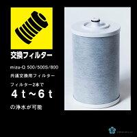 交換フィルター1本,フィルター2本で4t〜6tの浄水が可能です。