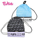 PINK-latteピンクラテボンリュックジュニアビーチバッグ子供女の子プールバッグブラックブルー