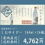 【送料無料】【産地直送】【地サイダー】奥能登地サイダーしおサイダー340ml×24瓶