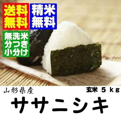 新米【送料無料】・【無洗米】・分搗き対応ササニシキ玄米10kg