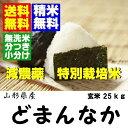 29年産山形県産 特別栽培米どまんなか玄米25kg 【送料無料】【米・無洗米・胚芽米・玄米】