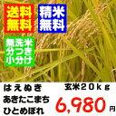 山形の一等米玄米20kgシリーズです玄米か精米でのお届けとなります精米・送料無料23年産山形の検査一等 米 玄米20kgあきたこまち ひとめぼれ はえぬき