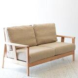 北欧家具 ソファ 2p 後姿も美しいので部屋の真ん中に置ける2人用ソファ