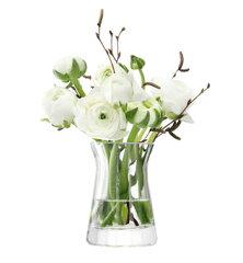 LSA FLOWER TEXTUREMIXED BOUQUET VASE ベース H95mmPLEAT OPTIC クリア<花瓶>