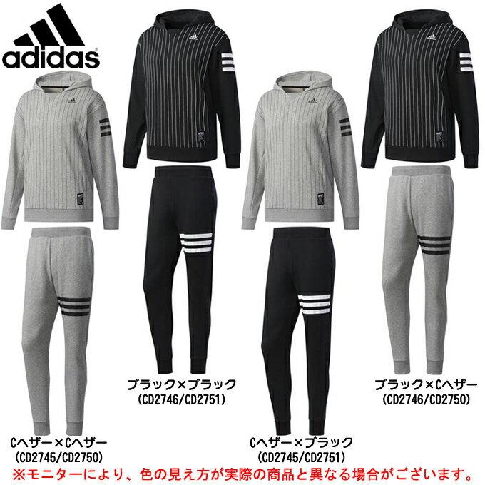 adidas(アディダス)5T ピンストライプスウェット 上下セット(DUU61/DUU59)(野球/ベースボール/カジュアル/スポーツ/トレーニング/パーカー/パンツ/男性用/メンズ)