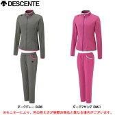 DESCENTE(デサント)タフスウェット 9分丈パンツ 上下セット(DAT1426W/DAT1426WP)(フィットネス/ランニング/トレーニング/ジャケット/女性用/レディース/2014年)