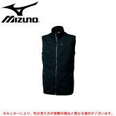 MIZUNO(ミズノ)サーモブリッドシャツベスト(32JC6655)(BREATHTHERMO/スポーツ/トレーニング/保温/発熱/防風/ジャケット/男性用/メンズ)