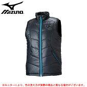 MIZUNO(ミズノ)サーモブリッドベスト(32ME6655)(BREATHTHERMO/スポーツ/トレーニング/保温/発熱/防風/ジャケット/男性用/メンズ)