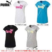 PUMA(プーマ)グラフィック半袖Tシャツ(592723)(スポーツ/フィットネス/トレーニング/カジュアル/Tシャツ/吸水速乾/女性用/レディース)