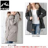 RUSTY(ラスティ)中綿ジャケット(955302)(カジュアル/スポーツ/トレーニング/フード付き/保温/防寒/女性用/レディース)